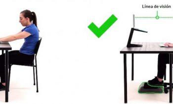 Consejos para tener la posición correcta frente al computador