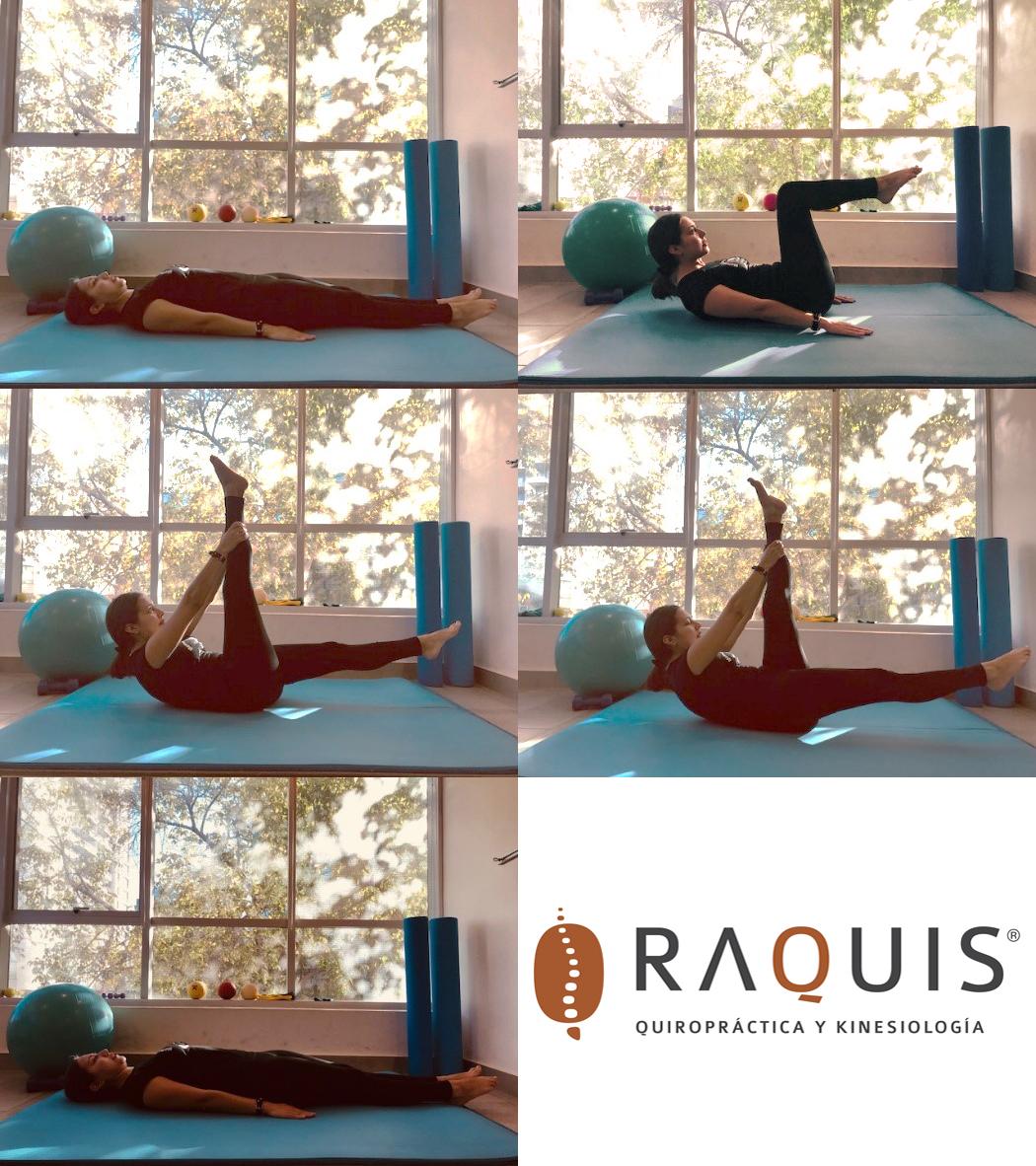 Pilates: ejercicio One Straight Leg Stretch
