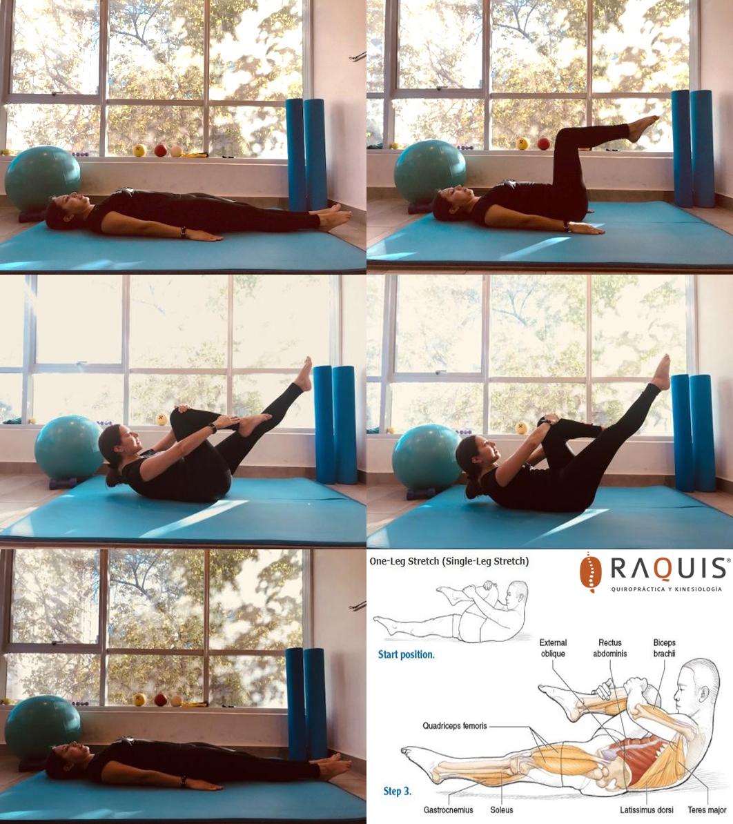 Pilates: ejercicio Single Leg Stretch
