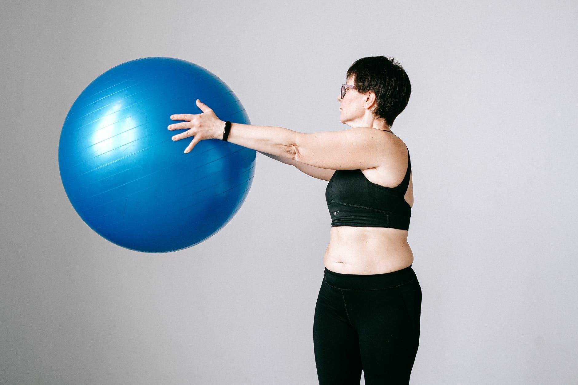 mujer balon
